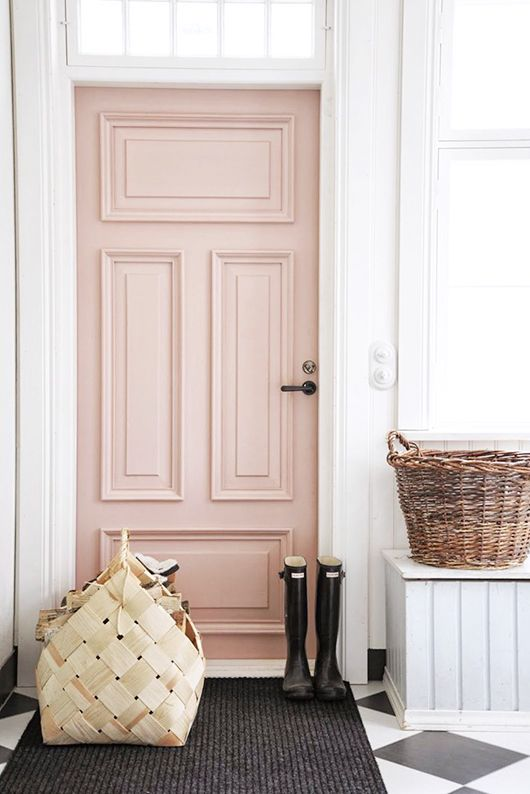 Dusky Pink Door